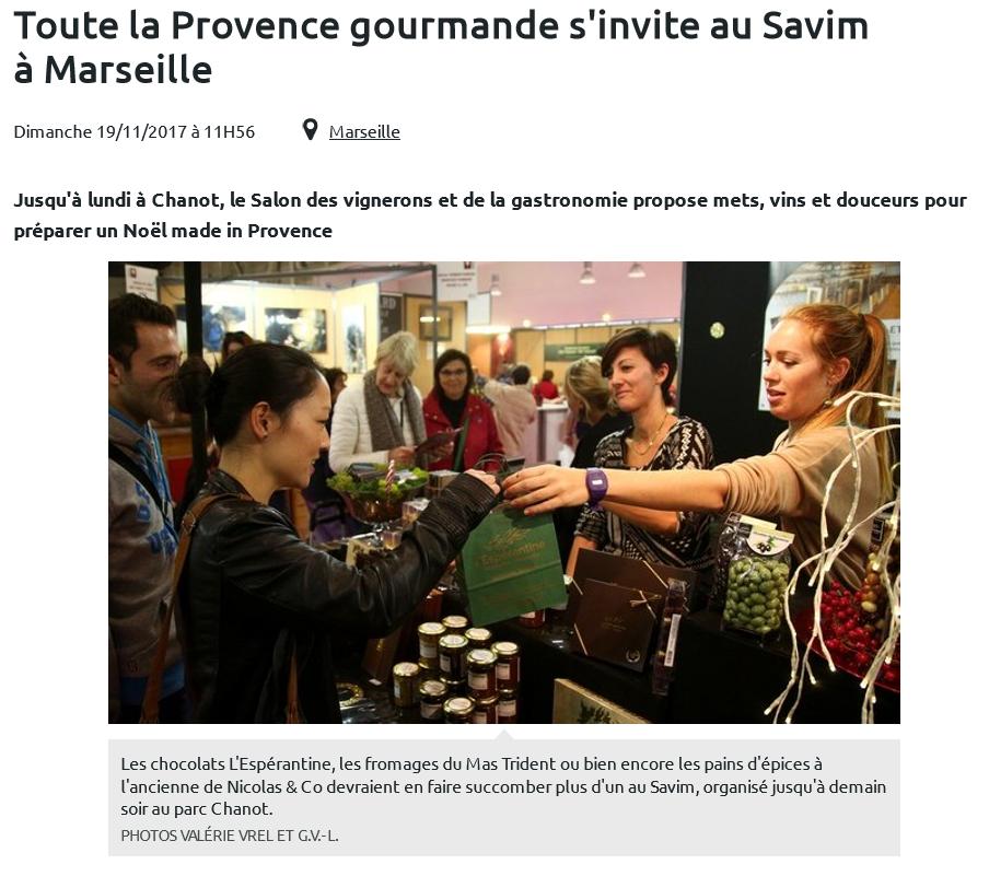 Toute la Provence gourmande s'invite au Savim à Marseille