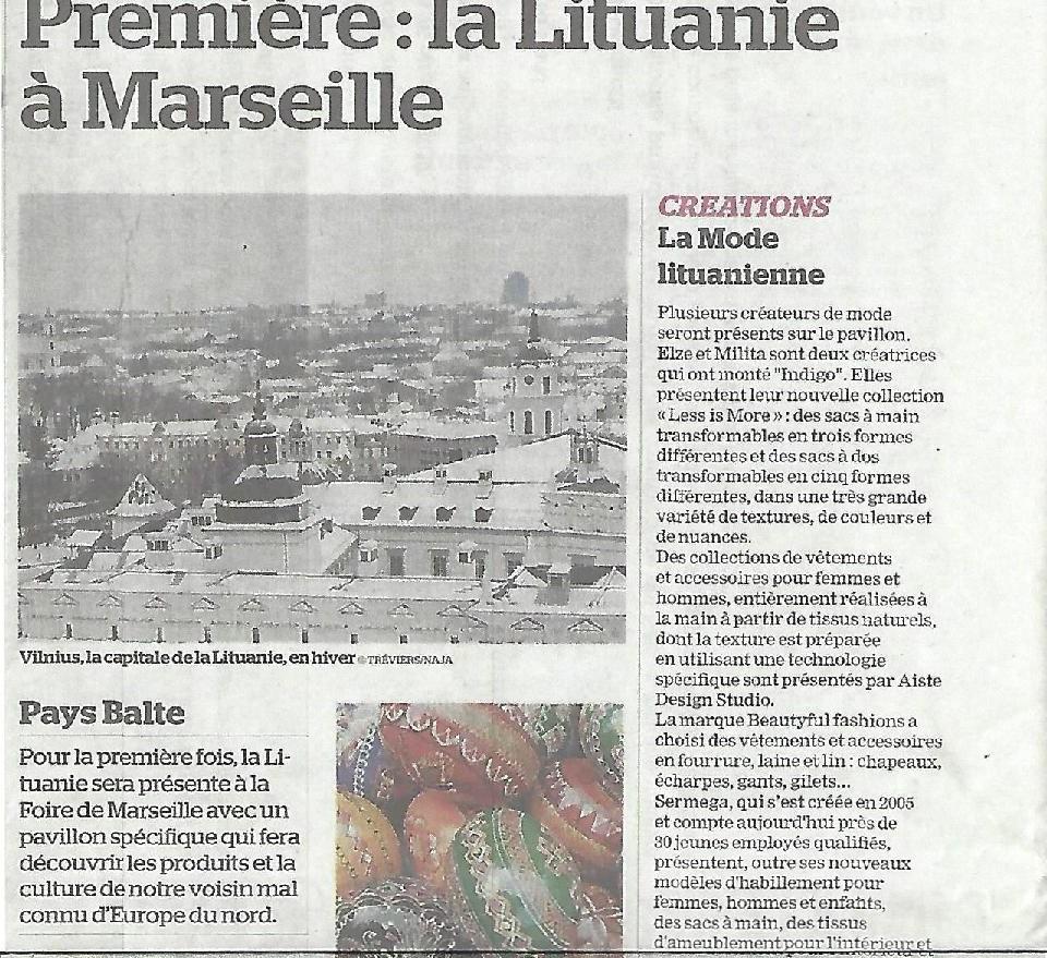 Première : la Lituanie à Marseille