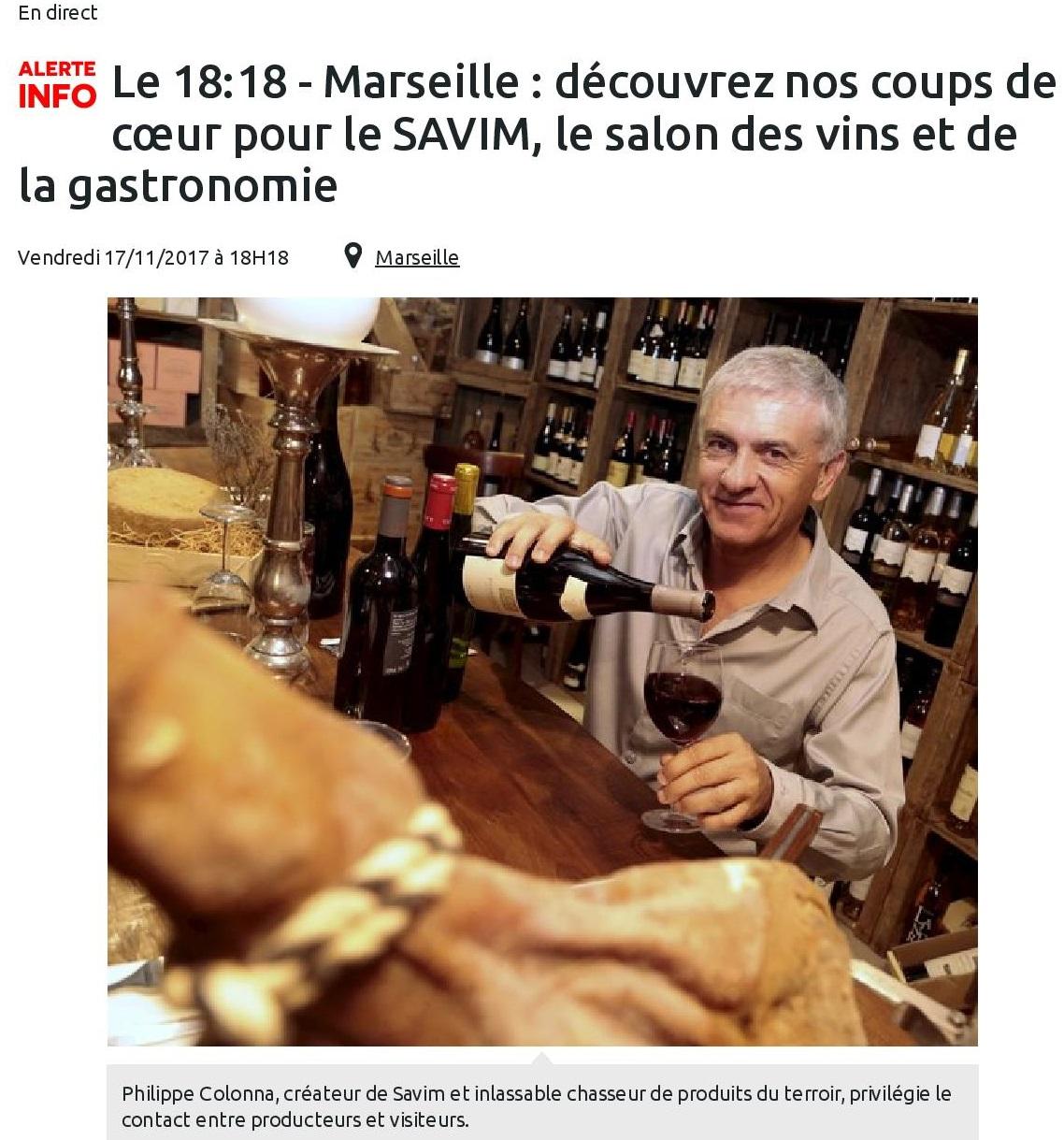 Marseille : découvrez nos coups de cœur pour le SAVIM, le salon des vins et de la gastronomie