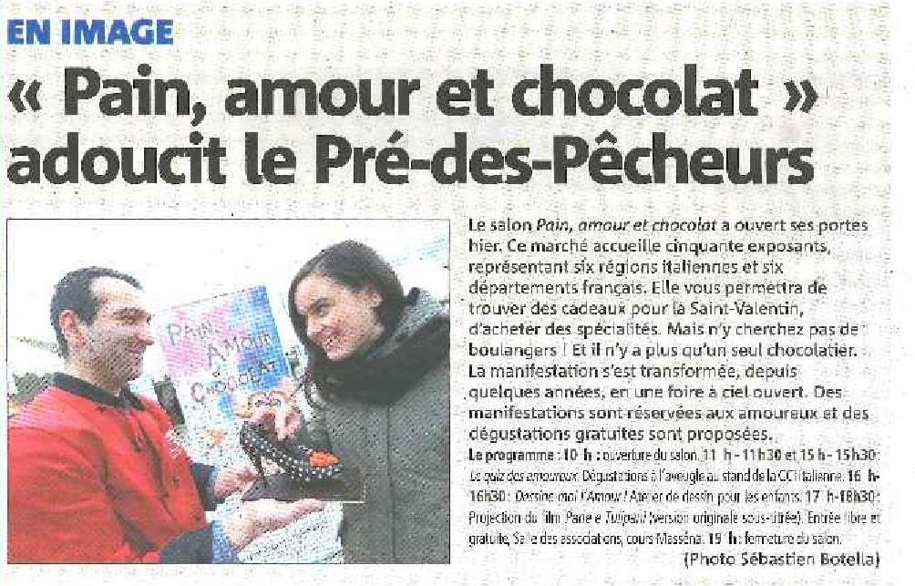 « Pain, amour et chocolat » adoucit le Pré-des-Pêcheurs