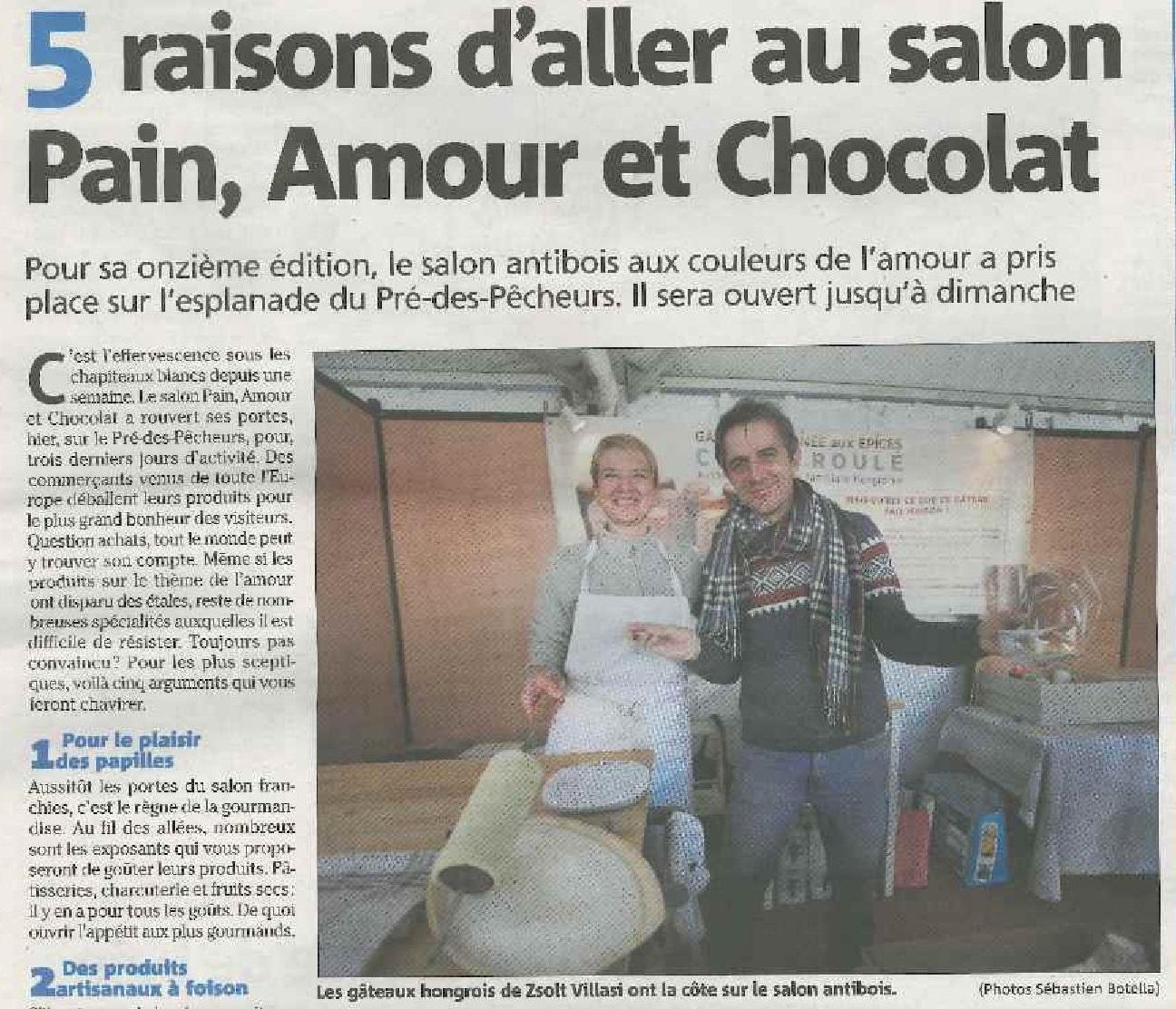 5 raisons d'aller au salon Pain, Amour et Chocolat