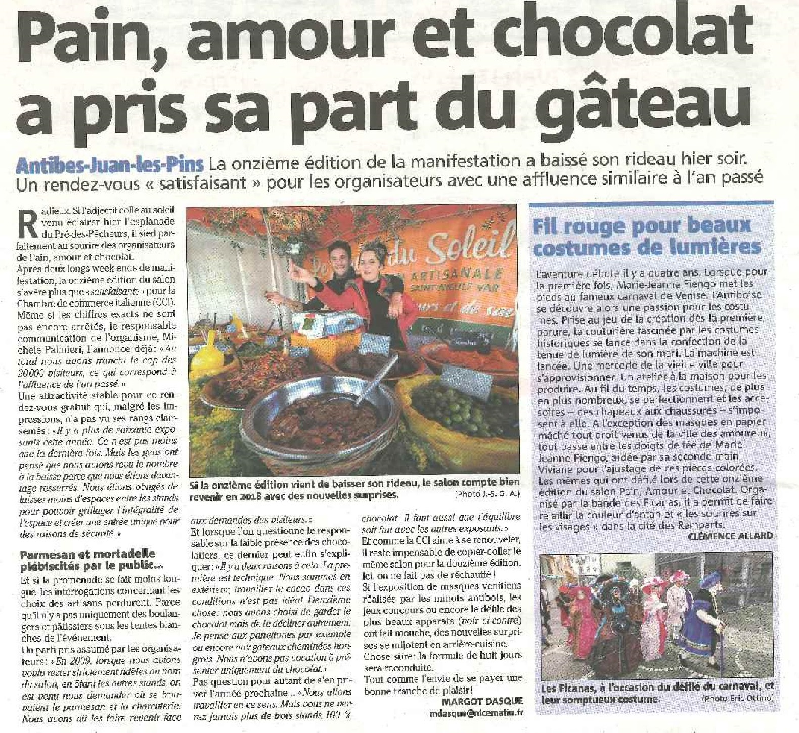 Pain, amour et chocolat a pris sa part du gâteau