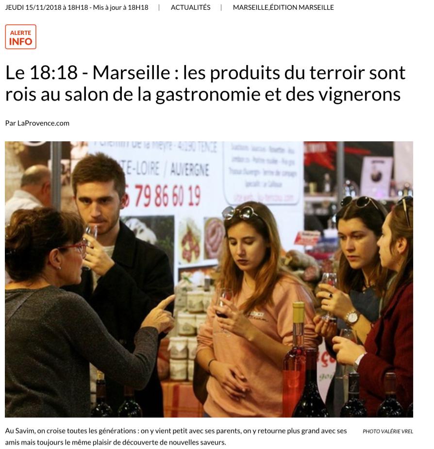 Le 18:18 – Marseille : les produits du terroir sont rois au salon de la gastronomie et des vignerons