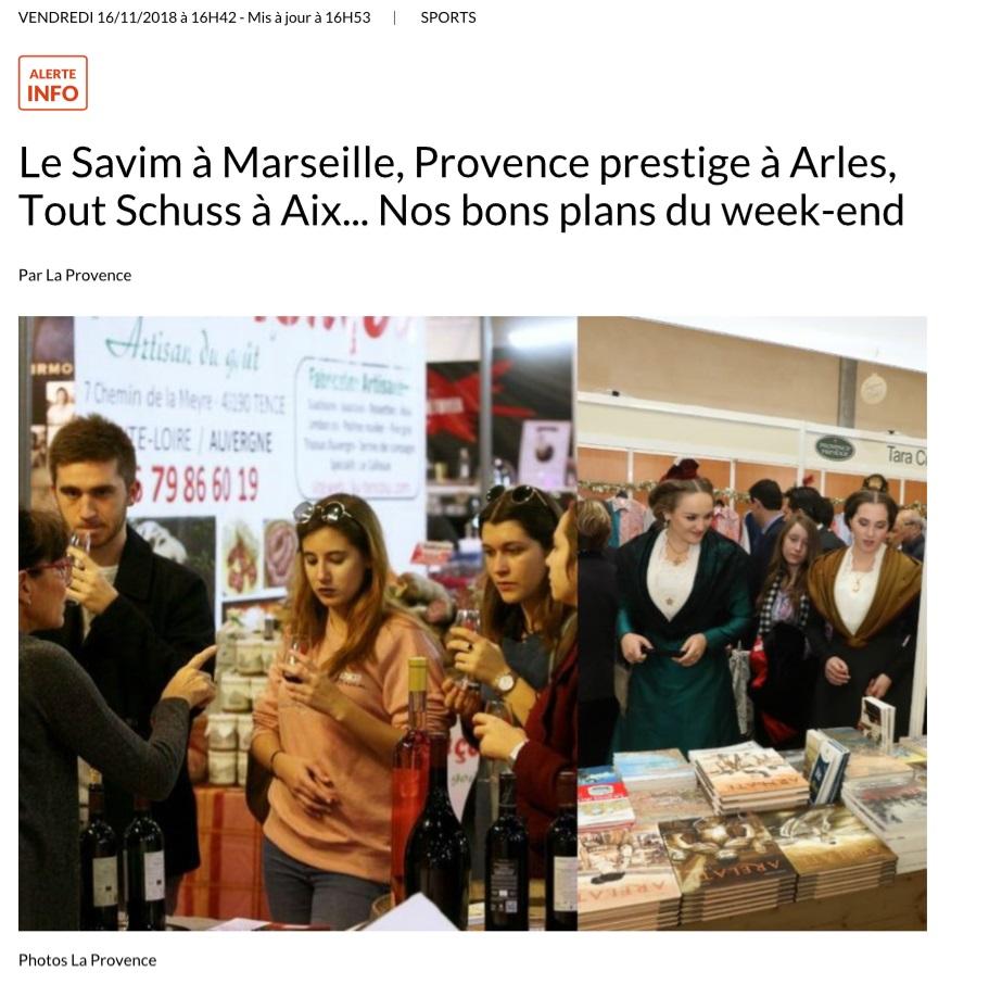 Le Savim à Marseille, Provence prestige à Arles, Tout Schuss à Aix... Nos bons plans du week-end