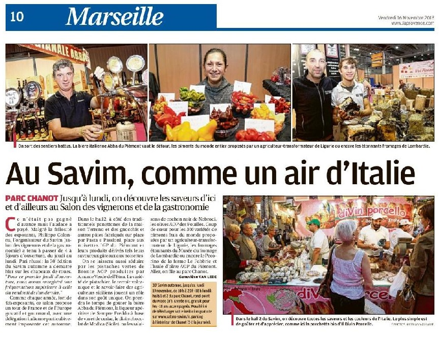 Marseille : au Savim, comme un air d'Italie